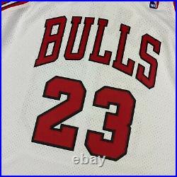 100% Authentic Michael Jordan Mitchell & Ness 95 96 Finals Bulls Jersey 52 2XL