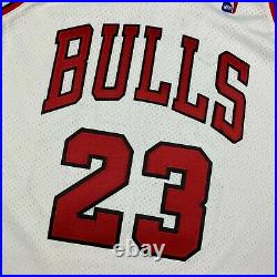 100% Authentic Michael Jordan Mitchell Ness 95 96 Finals Bulls Jersey Size 48 XL