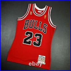 100% Authentic Michael Jordan Mitchell Ness 96 97 Finals Bulls Jersey 36 S Mens