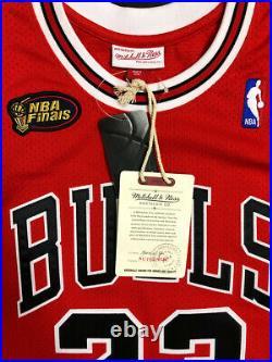 100% Authentic Mitchell and Ness Michael Jordan Chicago Bulls NBA Finals Jersey