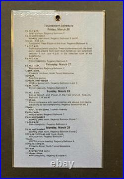 1982 NCAA Finals Floor Press Pass Ticket North Carolina MICHAEL JORDAN 3/29 Rare