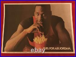 1985 Michael Jordan McDonald's promo poster / Chicago Bulls / Last Dance / HTF