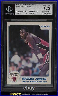 1985 Star Last 11 ROY's Michael Jordan ROOKIE RC #1 BGS 7.5 NEAR MINT+