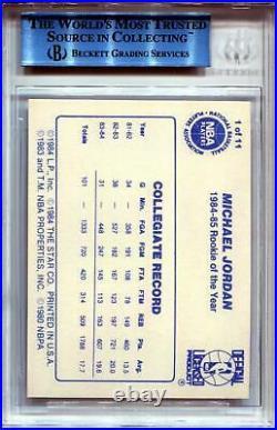 1985 Star Last 11 ROYs #1 Michael Jordan BGS AUTH Altered 3570
