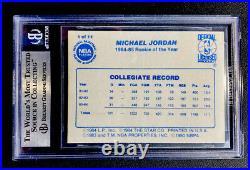 1985 Star Michael Jordan Chicago Bulls Last 11 Roy's #1 Bgs Quad 9 Mint