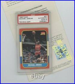 1986-87 Fleer Signed AUTO 57 Michael Jordan AU RC PSA 9 UDA 1997 LAST DANCE YEAR
