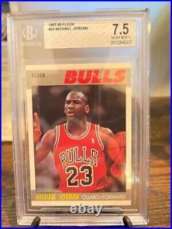 1987 Fleer Michael Jordan 2nd Year card Chicago Bulls HOF Last Dance BGS 7.5
