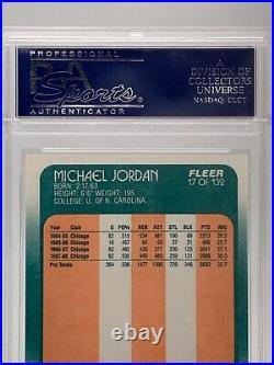 1988 Fleer MICHAEL JORDAN Chicago Bulls Last Dance #17 PSA 9 Mint Flawless