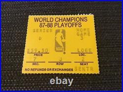 1988 Nba finals GAME 6 TICKET LA LAKERS Pistons Magic Johnson Isaiah Thomas
