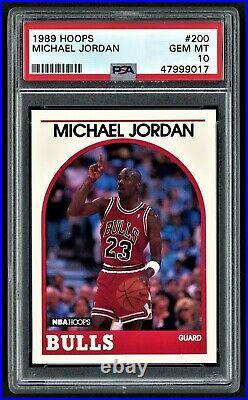 1989 Hoops Michael Jordan #200 Chicago Bulls Hof Goat Last Dance Psa 10 Gem Mint