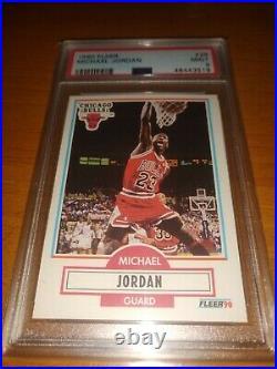1990 Fleer Basketball #26 Michael Jordan Chicago Bulls PSA 9 MINT THE LAST DANCE