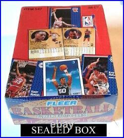 1991 Fleer Nba Wax Box 36 Ct Sealed / Possible Michael Jordan Cards / Last Box