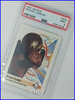 1991 Skybox Great Moments From The NBA Finals Michael Jordan #334, Graded PSA 9