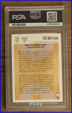 1991 Upper Deck International Spanish 1992 NBA Finals Michael Jordan PSA 10