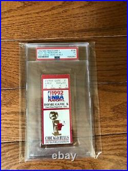 1992 NBA Finals Game 1 Ticket Stub Bulls Vs Blazers Jordan Shrug Game PSA 3 RARE