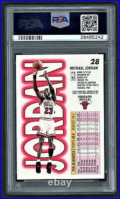 1993 Fleer Michael Jordan #28 Chicago Bulls Hof Last Dance Psa 10 Gem Mint