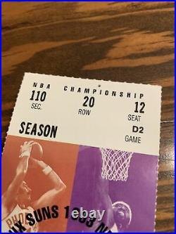 1993 NBA FINALS Ticket Stub Game 2 MICHAEL JORDAN Chicago Bulls vs Phoenix Suns