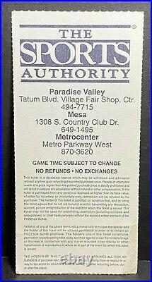 1993 NBA FINALS Ticket Stub Game 6 MICHAEL JORDAN MVP 3-Peat Bulls Champs & Suns
