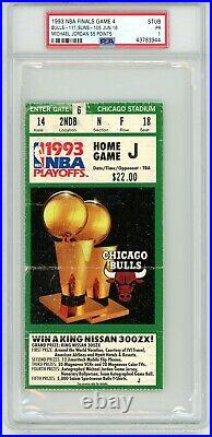 1993 Nba Finals Chicago Bulls Phoenix Suns Michael Jordan 55 Pts Psa Ticket Stub