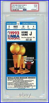1993 Nba Finals Chicago Bulls Phoenix Suns Michael Jordan 55 Pts Ticket Stub Gm4