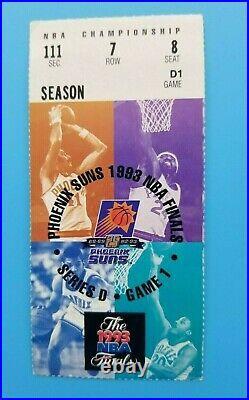 1993 Nba Finals Ticket Chicago Bulls @ Phoenix Suns Game 1 Michael Jordan