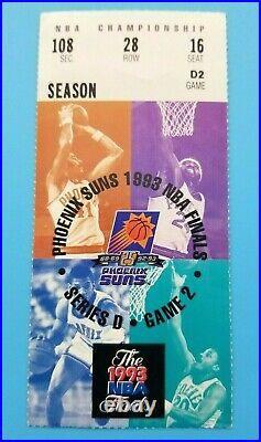 1993 Nba Finals Ticket Chicago Bulls @ Phoenix Suns Game 2 Michael Jordan