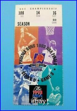 1993 Nba Finals Ticket Chicago Bulls @ Suns Game 6 Michael Jordan Mvp 3-peat