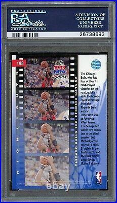1993 Upper Deck Finals Game 1 Michael Jordan PSA 10 GEM MINT #198. Bulls. POP 40