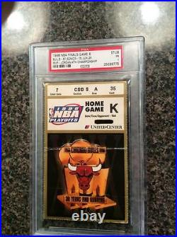 1996 Michael Jordan 4th MVP NBA FINALS TICKET Clinch 4th Title Chicago Bulls PSA