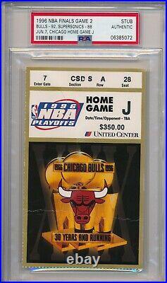 1996 NBA Finals Chicago Bulls vs Seattle Ticket Stub Michael Jordan PSA