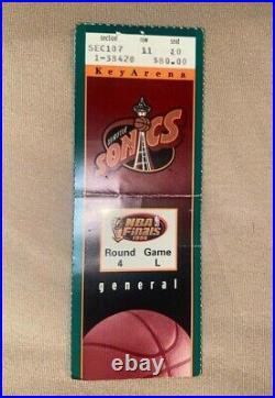1996 Nba Finals Game L Ticket Stubs Michael Jordan 4th Championship