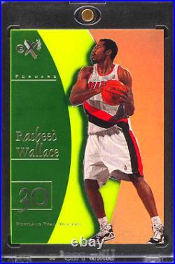 1997 1998 E-X2001 Essential Credentials Now RASHEED WALLACE #d 38/56 NBA FINALS
