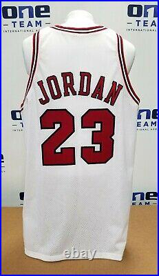 1997-98 Michael Jordan Nba Finals Game Issued Home White Bulls Jersey Mears A5