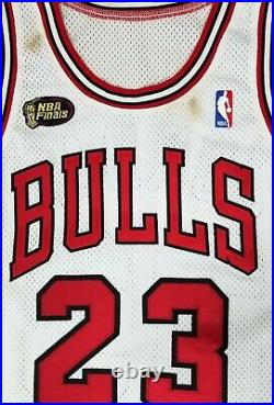 1997-98 Michael Jordan Nba Finals Game Issued Home White Bulls Jersey Mears Sia