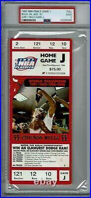 1997 NBA Finals Game 1 Full Ticket Michael Jordan Finals PSA 2 POP 2