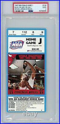 1997 Nba Finals Chicago Bulls Utah Jazz Michael Jordan 31 Points Psa Ticket Stub