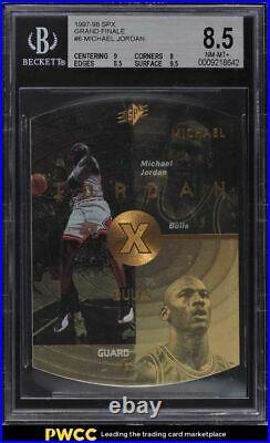 1997 SPx Grand Finale Die-Cut Michael Jordan 22/50 #6 BGS 8.5 NM-MT+