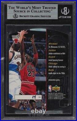1997 SPx Grand Finale Die-Cut Michael Jordan /50 #6 BGS 8.5 NM-MT+