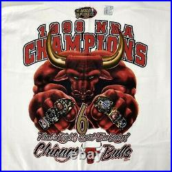 1998 Chicago Bulls Repeat 6 Time Championship T-Shirt Vintage The Last Dance