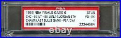 1998 Michael Jordan Signed Last Bulls Game 6 Nba Finals Ticket Stub Psa Auto Wow