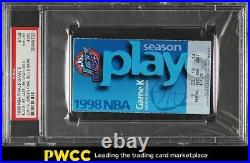 1998 NBA Finals Game 6 Ticket Stub Michael Jordan Final Bulls Game PSA 8(mk)