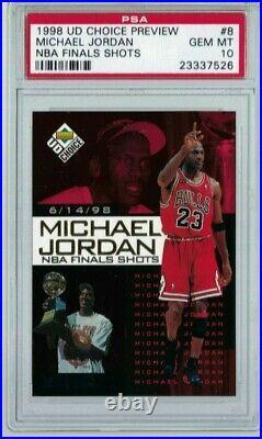 1998 Upper Deck Choice Preview MICHAEL JORDAN NBA Final Shots #8. POP 1. Highest