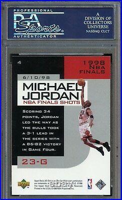 1998 Upper Deck Choice Preview NBA Finals Shots Michael Jordan #4 PSA 10. POP 3