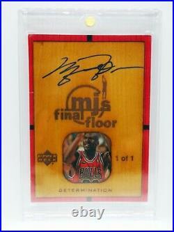 1999/00 UD Michael Jordan Final Floor 1/1 Autograph! Masterpiece MJ 90s Auto