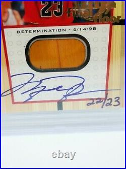 1999/00 UD Michael Jordan Final Floor Autograph 22/23! BGS 9! Rare MJ 90s Auto