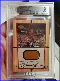 1999/00 UD Michael Jordan Final Floor Autograph 23/23! BGS 9! Rare MJ 90s Auto
