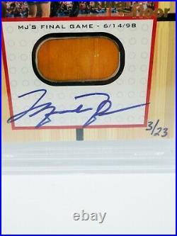 1999/00 UD Michael Jordan Final Floor Autograph 3/23! BGS 9! Rare MJ 90s Auto