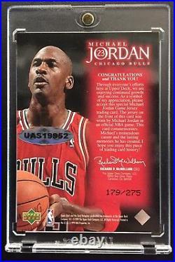 1999 Michael Jordan Upper Deck Employee Game Used Bulls Last Dance Auto Jersey 1