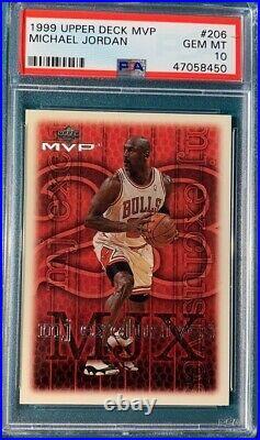 1999 Upper Deck MVP Basketball #206 Michael Jordan PSA 10 Last Dance