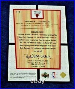 2000 Michael Jordan 4x5 Final Floor Card #ff7 Upperdeck Green Floor Last Shot